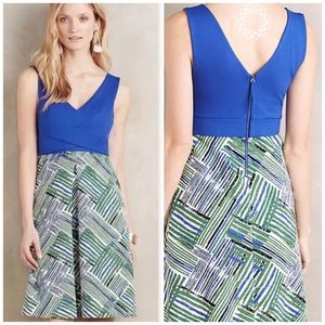 Anthropologie HD in Paris Ardmore Blue Dress 8